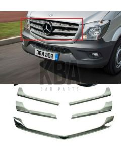 Mercedes Sprinter Nvc3 2013-2018 Front Top Grille Brand New Chrome Strips Steel