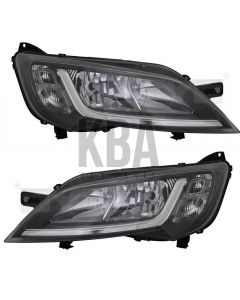 COMMON Head Lamp: CITROEN REPLAY _ FIAT DUCATO _ PEUGEOT BOXER 2014 - 2019 ●Black Headlight Headlamp Pair Right Left O/S N/S