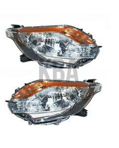 Mitsubishi L200 2015-2019 Headlight Headlamp Pair Right Left O/s N/s