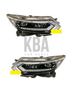 Nissan Qashqai 2017-2021 Headlight Headlamp Led Drl Pair Right Left O/s N/s