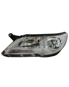 Vw Tiguan 2007-2011 Headlight Headlamp Passenger Left N/S Side